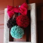 Pom Poms made out of old shirts. I just did this!