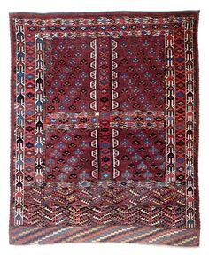 Yomut ensi 5ft. 6in. x 4ft. 7in. (168 x 139 cm) Turkmenistan circa 1870