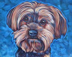 """10"""" x 10"""" Custom Pet Portrait Painting in Acrylic on Ready to Hang Stretched Canvas of One Dog, Cat, or Other Animal. No Framing Needed."""