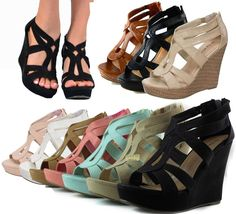 NEW Women High Heel Gladiator Wedge Sandal~Open Toe Platform Fashion Pump Shoe