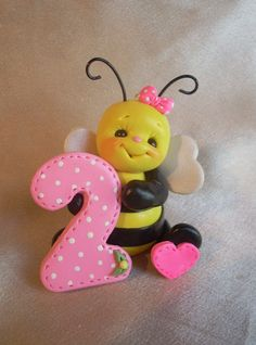 Shop for on Etsy, the place to express your creativity through the buying and selling of handmade and vintage goods. Bee Birthday Cake, Cake Toppers, Modeling, Polymer Clay, Christmas Ornaments, Holiday Decor, Children, Unique Jewelry, Handmade Gifts