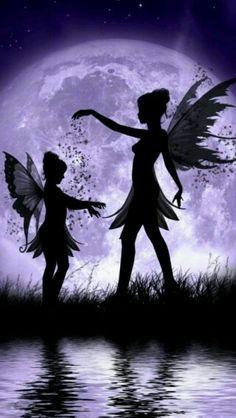 Silhouette fairies
