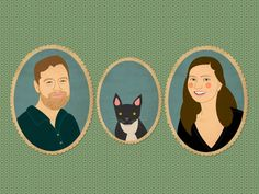 Modern custom family portraits from Lili Di Prima: Great holiday gift