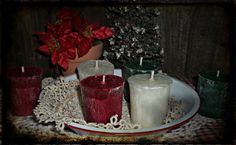 NELLIE'S ACRES WINTER HOLIDAY SOY WAX VOTIVES~~21 SCENTS~~