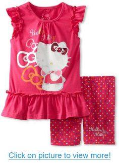 Hello Kitty Girls 2-6X Ruffled Short Set #Hello #Kitty #Girls #2_6X #Ruffled #Short #Set