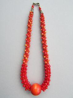 Flame Kumihimo Necklace by NoGlitzNoGlory on Etsy, $147.65