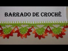 Barradinho de Crochê Com Flores - 01 Por Wilma Crochê - YouTube