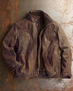 La Marque Antiqued Leather Jacket