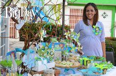 mesa de dulces para baby shower vintage - Buscar con Google