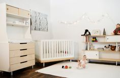 cute and eco-friendly - gender neutral colours too! oeuf1 Design an Eco Friendly Modern Baby Nursery