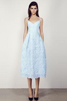 Calandre V Lace Midi Dress Alex Perry