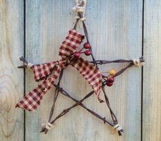 Barbed  Wire Star Farm Garden Ornament by Rusticpatriotgirl on Etsy. $10.50, via Etsy.