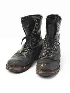 Red Wing Logger Boots, Vintage, Size 10 1/2, Width E, Black, 699, USA #RedWing #Motorcycle