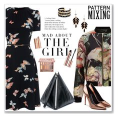"""Butterfly Pattern"" by feelgood35 ❤ liked on Polyvore featuring Kershaw, Miss Selfridge, McQ by Alexander McQueen, Alexander Wang, River Island, Charlotte Tilbury, Urban Decay, black, metallic and bomberjacket"