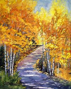 """The Path to Fall"" - Original Fine Art for Sale - © Jennifer Beaudet"