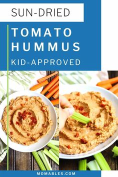 Creamy sun-dried tomato hummus is the perfect healthy snack that you can whip up in 5 minutes or less! Serve it with veggies, crackers, or use it as a spread for wraps and sandwiches. Homemade Velveeta, Recipes With Velveeta Cheese, Healthy Dips, Healthy Recipes, Healthy Food, Easy Baking Recipes, Cooking Recipes, Easy Cloud Bread Recipe, Sun Dried Tomato Hummus