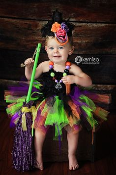 Toddler Witch Costume with tutu