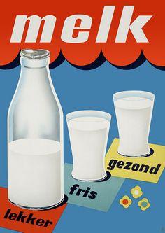 Milk Vintage Dutch Advertising Posters Prints