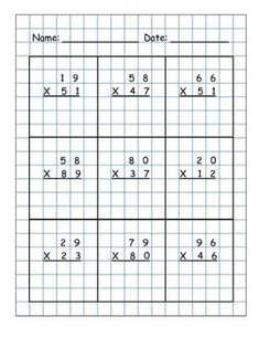 math worksheet : multiplication and d on pinterest : 2 By 2 Digit Multiplication Worksheets