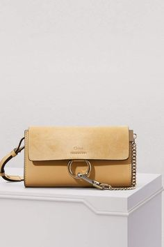 08263d3c4bc Buy CHLOE Faye wallet on strap online on 24 Sèvres. Shop the latest trends  - Express delivery & free returns
