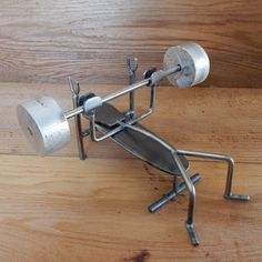 Metal folk - bench press by FusedThoughts on Etsy