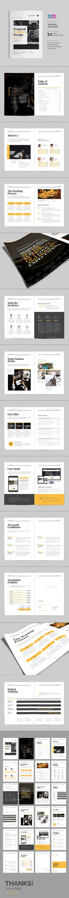 Commercial Proposal Format Amazing The Business Proposal Template  Business Proposal Template .