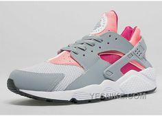 newest 249b5 78a4c (FRxgi) Nike Air Huarache Chaussure Pour Femme Rose Blanc Gris Shoes  Sneakers