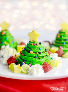 Christmas Tree Pancake Stacks with Almond flavored panackes!!