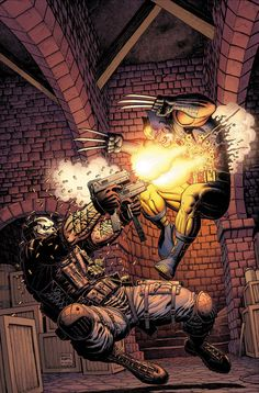 Wolverine versus Crossbones by Art Adams