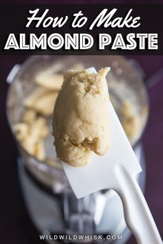 Almond Paste How to make an easy and quick Homemade Almond Paste to use as delicious filling in a variety of baked goods.How to make an easy and quick Homemade Almond Paste to use as delicious filling in a variety of baked goods. Marzipan Recipe, Almond Pastry, Almond Flour, Cookie Recipes, Dessert Recipes, Paste Recipe, Almond Recipes, Vegan Recipes, Just Desserts