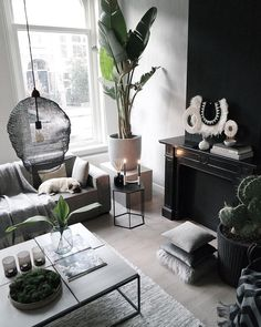 captivating black living room designs ideas that never go out of fashion page 5 Living Room Designs, Living Room Decor, Living Spaces, Interior Exterior, Interior Design, Living Room Remodel, Decoration, Home Fashion, Interior Inspiration