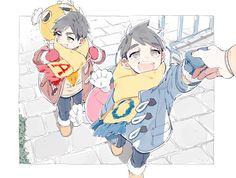 Twitter Haikyuu Karasuno, Haikyuu Fanart, Haikyuu Anime, Anime Child, Anime Art Girl, Baby Crows, Miya Atsumu, Haikyuu Volleyball, Tsukkiyama
