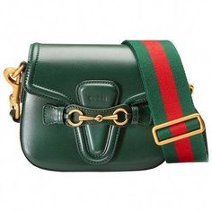 65359dd4f35 Get a little green in your life with this Gucci lady web leather shoulder  bag on ShopStyle!