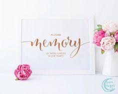 Printable In Loving Memory Sign / Memory Wedding Signs /