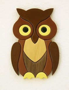 Owl Scroll Saw Patterns Easy - Bing images Owl Crafts, Diy Arts And Crafts, Intarsia Wood Patterns, Wood Owls, Scroll Saw Patterns Free, Wood Burning Patterns, Intarsia Woodworking, Woodworking Projects That Sell, Wooden Puzzles