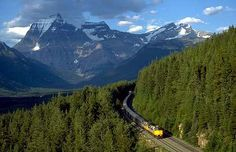 Through the Canadian Rocky Mountains by train