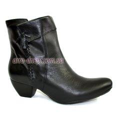 Кожаные женские демисезонные ботинки на невысоком каблуке. В наличии 38-42  размеры c2bd27af0f2