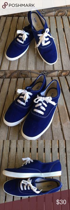 Keds Royal/Cobalt Blue Original Sneakers Keds Royal/Cobalt Blue Original Sneakers. Great condition! Perfect for the spring/summer. Bright blue. Keds Shoes Sneakers