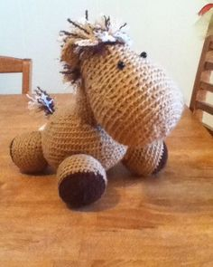 Do you love #ponies ? #horses ? #unicorns ? Order one from my etsy shop and receive it half off if you are one of my first 5 customers! It's  a stuffed #amigurumi #crochet #animal #toy or knickknack. Any #horse lover would enjoy it. It's the perfect gift for #kids #teens  and #adults. Link is in the bio!  #etsy #etsycrochet #etsyshop #etsysale by toolegittoknitcrochetstudio