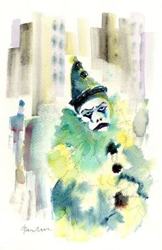 Clown Print featuring the painting Clown Who Cried In The Alley by Paul K Taylor