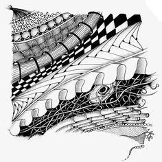 zentangle Weekly Challenge #24 by louvebleue, via Flickr