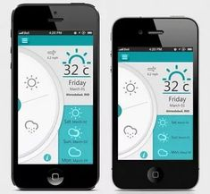Beautifully Designed Weather Mobile Apps.