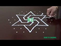 9 × 5 DOTS || BEGINNERS RANGOLI || INTERLACED DOTS || SIMPLE RANGOLI WITH DOTS || HOW TO DRAW || - YouTube