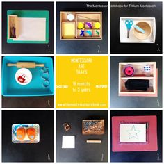 Montessori art trays for toddlers