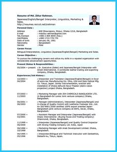 awesome Breathtaking Facts about Bilingual Resume You Must Know,
