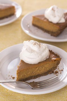 "Poetic Pumpkin Pie | ""The cinnamon-graham cracker crust and brown-sugar whipped cream breathe new life into traditional pumpkin pie and make it, well, poetic!"""