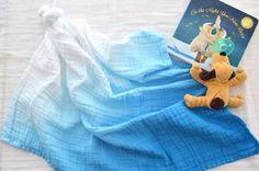 Blue Ombré dyed muslin security baby blanket Muslin Blankets, Muslin Swaddle Blanket, Baby Security Blanket, Blue Ombre, Baby Boy Nurseries, Baby Blue, Nursery, Handmade Gifts, Etsy