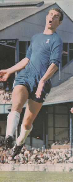 Circa 1967/68. Chelsea midfield star Peter Osgood back in action, at Stamford Bridge, after missing ten months with a broken leg that saw him miss the FA Cup Final against Spurs.