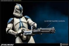 Star Wars Clone Trooper Deluxe: 501st Sixth Scale Figure by | Sideshow ...