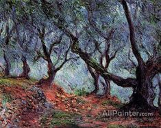 Claude Monet Grove Of Olive Trees In Bordighera oil painting reproductions for sale
